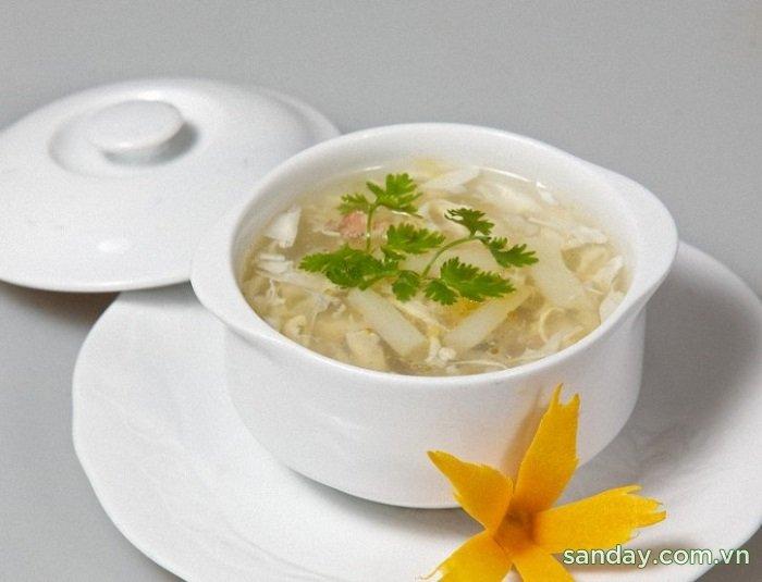 Chế biến bột sắn dây làm súp cá bổ dưỡng